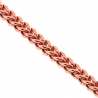 Rose 925 Silver Hollow Franco Mens Chain 4 mm  24 26 28 30 inch