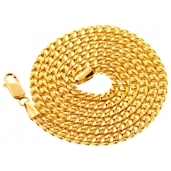 Italian 10K Yellow Gold Solid Franco Mens Chain 3.5mm 30 36 40""