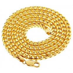 Italian 10K Yellow Gold Solid Franco Mens Chain 5.5 mm 30 36 40""