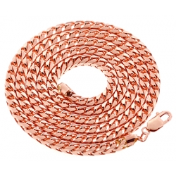 Italian 10K Rose Gold Solid Franco Mens Chain 5.5 mm 30 36 40""