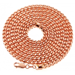 Italian 10K Rose Gold Solid Franco Mens Chain 4.5 mm 30 36 40""