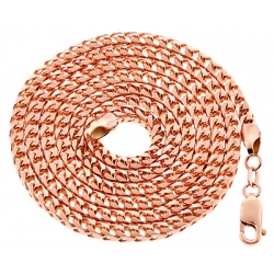Italian 10K Rose Gold Solid Franco Mens Chain 3.5mm 30 36 40""