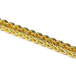 10K Yellow Gold Hollow Franco Diamond Cut Mens Chain 4 mm