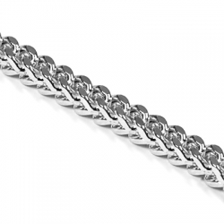 Italian 10K White Gold Solid Franco Mens Chain 5 mm