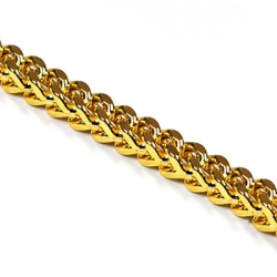 Real 10K Yellow Gold Solid Franco Mens Chain 5 mm 30 32 36 40""