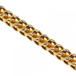 10K Yellow Gold Hollow Franco Diamond Cut Mens Chain 2.1 mm