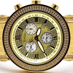 Mens Diamond Watch Joe Rodeo Tyler JTY1 2.00 ct Yellow Gold
