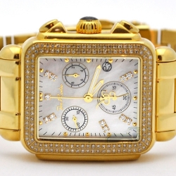 Womens Diamond Yellow Watch Joe Rodeo Madison JRMD3 1.50 Ct