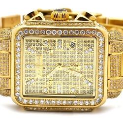 Womens Iced Diamond Gold Watch Joe Rodeo Madison JRMD33 12 ct