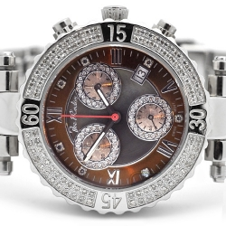 Womens Diamond Watch Joe Rodeo Marina JMA2 0.90 ct Black Dial
