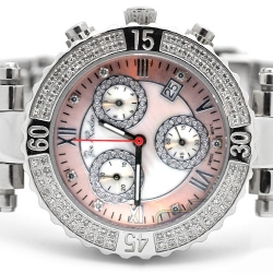 Womens Diamond Watch Joe Rodeo Marina JMA3 0.90 ct Pink Dial