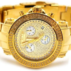 Womens Diamond Gold Watch Joe Rodeo Rio JRO16 1.25 ct Pave Dial