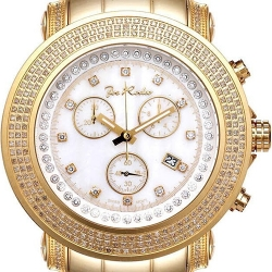 Mens Diamond Yellow Gold Watch Joe Rodeo Junior JJU3 2.50 ct