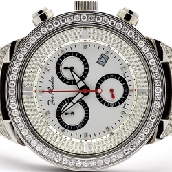 Mens Diamond Watch Joe Rodeo Master JJM21 7.35 ct White Dial