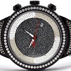 Mens Diamond Watch Joe Rodeo Master JJM32 4.80 ct Black Case