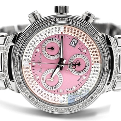 Womens Diamond Watch Joe Rodeo Master JJML6 0.90 ct Pink Dial