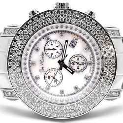 Mens Diamond Silver Watch Joe Rodeo Junior JJU10 6.00 Carat