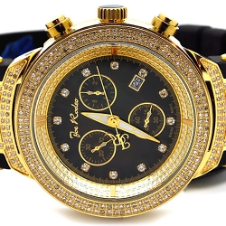 Mens Diamond Watch Joe Rodeo Master JJM78 2.20 ct Yellow Gold
