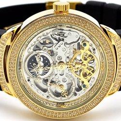 Mens Diamond Automatic Watch Joe Rodeo Master JJM81 2.20 ct Skeleton