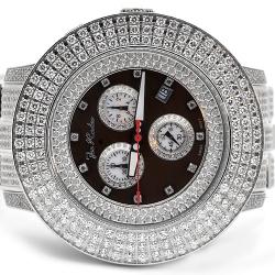 Mens Diamond Watch Joe Rodeo Pilot JRPL5 11.00 ct Black Dial