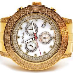 Mens Diamond Watch Joe Rodeo Pilot JRPL3 3.15 ct Yellow Gold