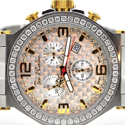 Mens Diamond Watch Joe Rodeo Phantom JPTM40 3.25 ct Two Tone