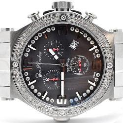 Mens Diamond Watch Joe Rodeo Phantom JPTM12 2.25 ct Black Dial