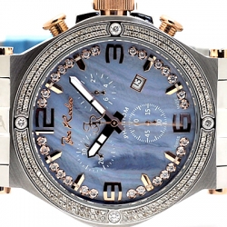 Mens Diamond Watch Joe Rodeo Phantom JPTM14 2.25 ct Blue Dial