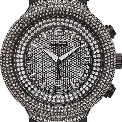 Mens Diamond Watch Joe Rodeo Master JJM70 6.50 ct Black