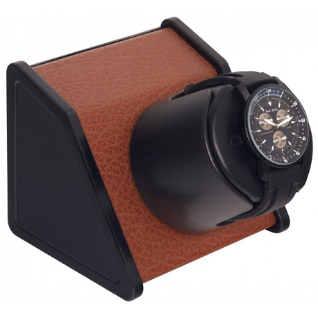 Single Watch Winder W05530 Orbita Sparta Open Brown Leather