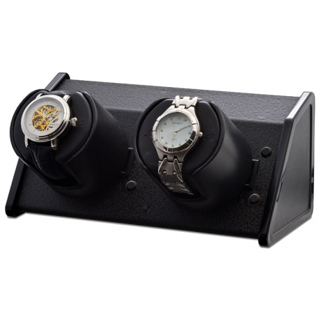 Double Watch Winder W05527 Orbita Sparta Open 2 Black