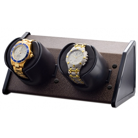Double Watch Winder W05528 Orbita Sparta Open 2 Brown