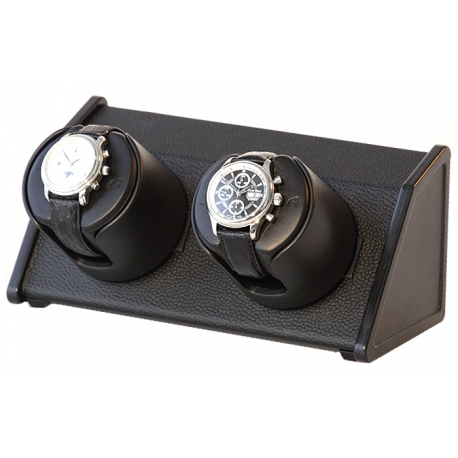 Double Watch Winder W05570 Orbita Sparta Open 2 Black Leather