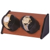 Double Watch Winder W05580 Orbita Sparta Open 2 Brown Leather