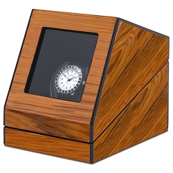 Single Watch Winder W13005 Orbita Siena Programmable Teak Wood