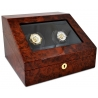 Double Watch Winder W13011 Orbita Siena 2 Rotorwind Burl Wood