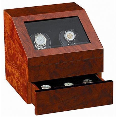 Double Watch Winder W13024 Orbita Siena Executive Rotorwind Burl