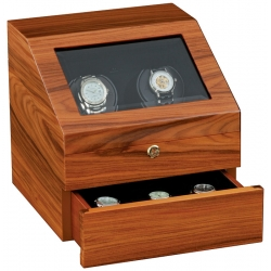 Double Watch Winder W13025 Orbita Siena Executive Rotorwind Teak