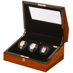Triple Watch Winder W13023 Orbita Siena 3 Rotorwind Teak Wood