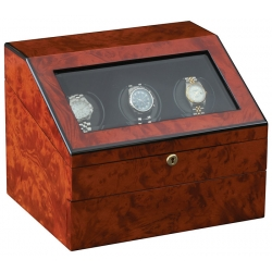 Triple Watch Winder W13028 Orbita Siena Executive Rotorwind Burl