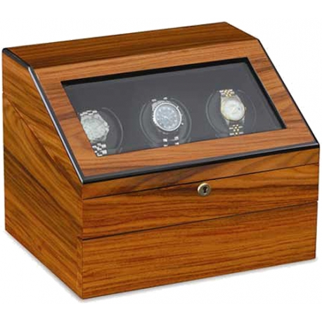 Triple Watch Winder Orbita Siena Executive Rotorwind W13029 Teak