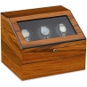 Triple Watch Winder W13031 Orbita Siena Executive Programmable Teak