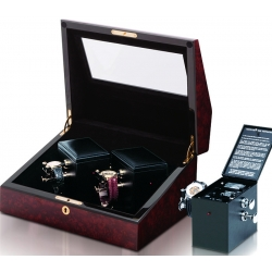 Double Mechanical Watch Winder W31002 Orbita Sempre Burl Wood