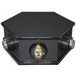 Six Watch Winder Box W21400 Orbita Carolo Rotorwind Carbon Fiber