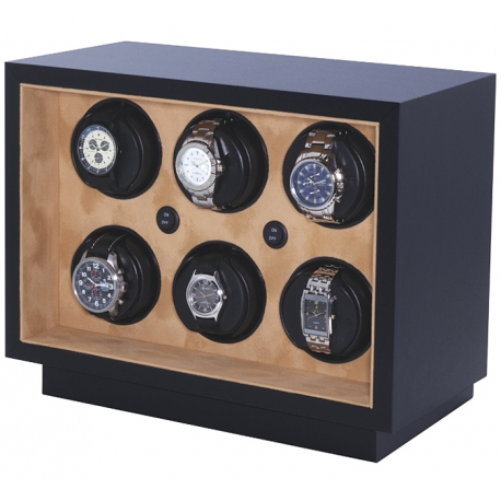 Six Watch Winder Box W21600 Orbita Insafe 6 Open Front