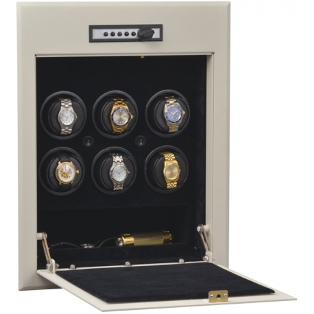 Orbita Wallsafe 6 Automatic Watch Winder Safe W21700 Steel