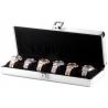 Six Watch Box Travel Case Orbita Lugano W81001 in Aluminum