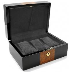 Triple Watch Display Box Orbita Zurigo W80020 in Black