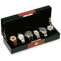 Six Watch Display Box Orbita Zurigo W80021 in Black