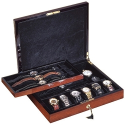 12 Watch Display Box Orbita Zurigo W80002 in Teak Wood